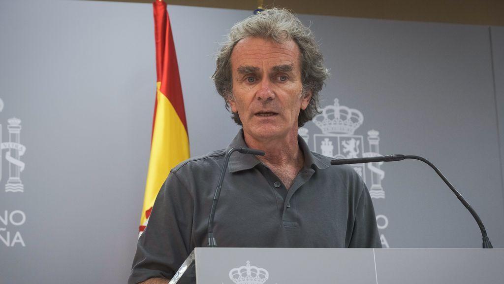 Fernando Simón compareciendo en una rueda de prensa
