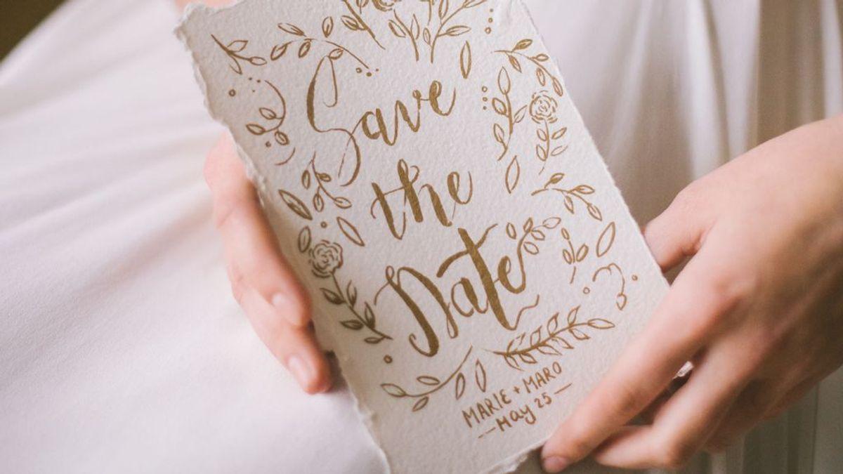 'Save the date': 10 formas originales de anunciar la fecha de tu boda