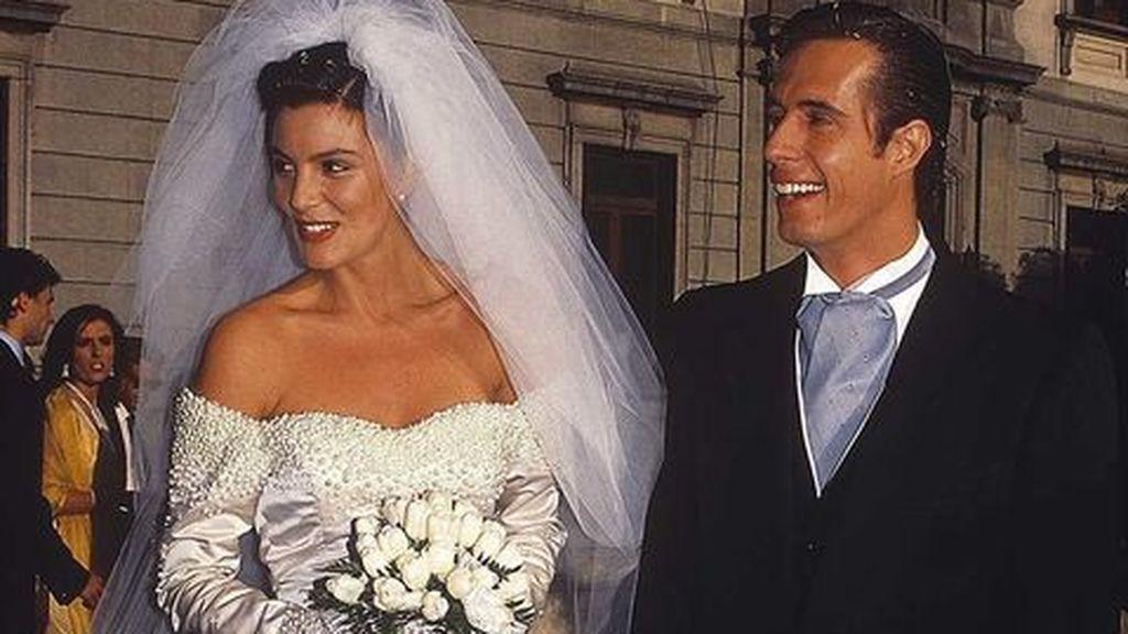 Mar y Carlo Costanzia pasaron por el altar en 1992.