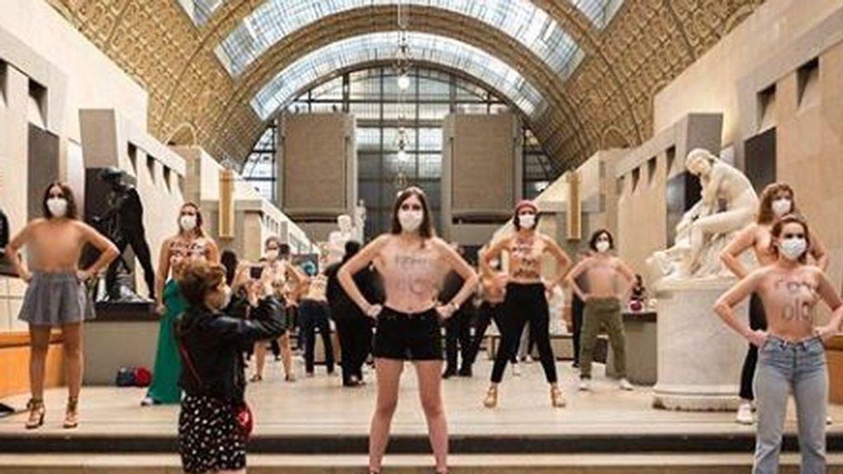 """Femen pasa a la acción tras la polémica del escote de D'Orsay: """"La obscenidad está en los ojos de quien nos oprime"""""""