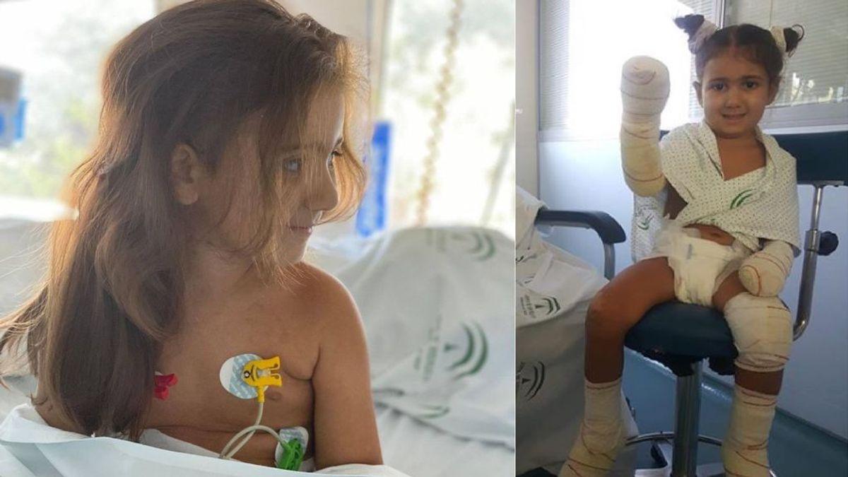 Los padres de una niña de cuatro años piden ayuda para que no pierda sus extremidades tras sufrir una sepsis