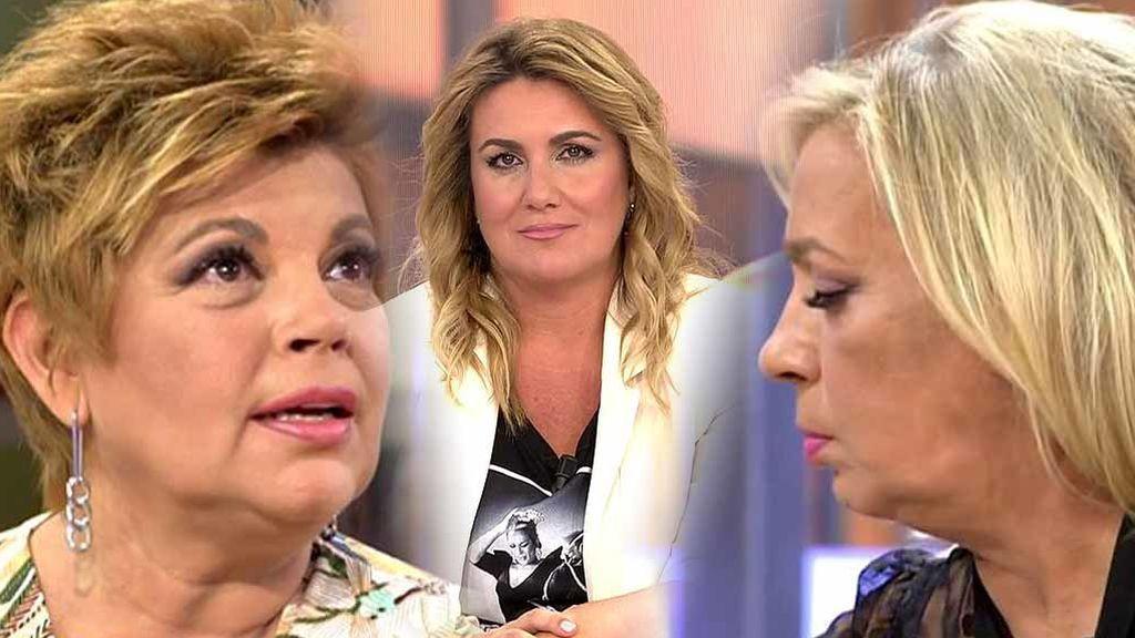 "El 'zasca' de Carlota Corredera a Carmen Borrego: ""Veo a Terelu hecha polvo y me da mucha pena"""