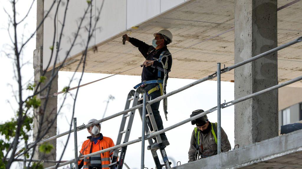 Trabajadores de la construcción en Leganés (Madrid)