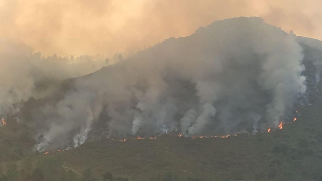 Incendios en Ourense: las precipitaciones de las próximas horas, claves para la extinción de los fuegos