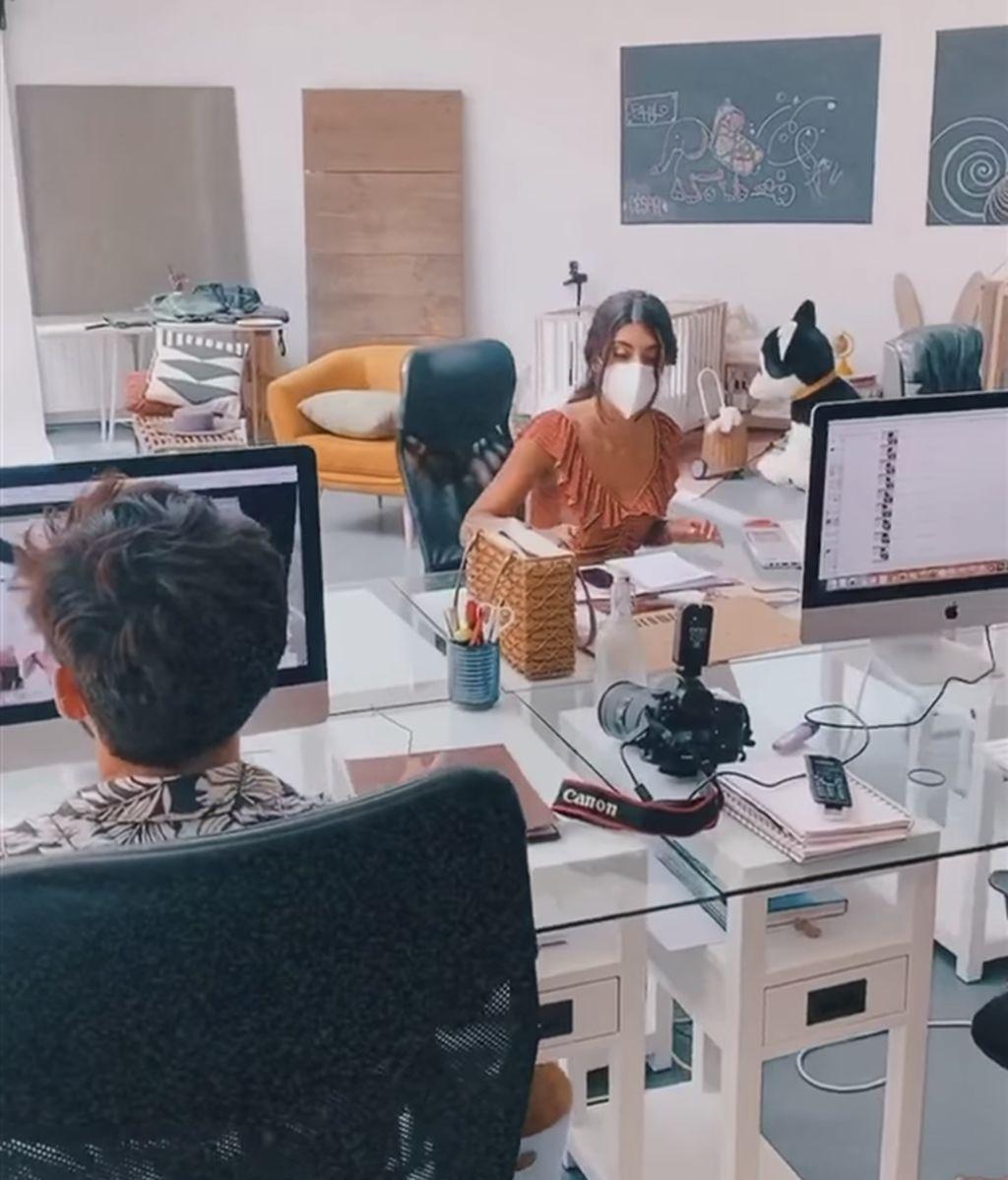 Sara Carbonero mostraba en sus stories la oficina