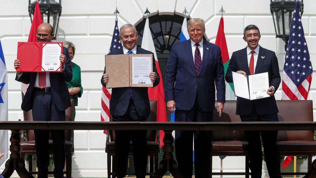 Trump preside la firma histórica de los acuerdos entre Israel, Emiratos y Bahréin
