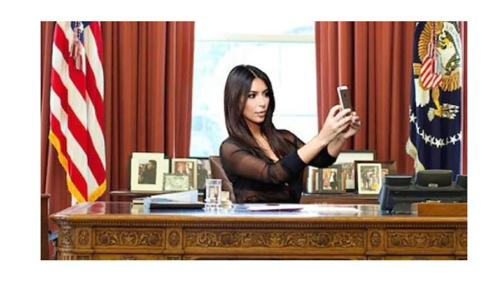 Tampoco podemos olvidarnos del día en el que Kim conquistó la Casa Blanca.