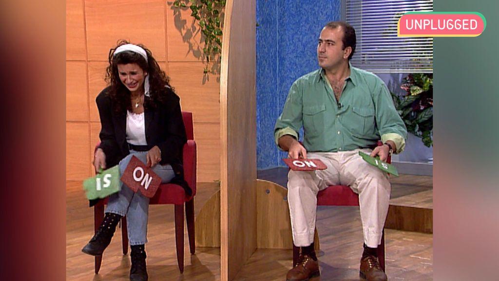 Gema López en 'En directo contigo' (1995)