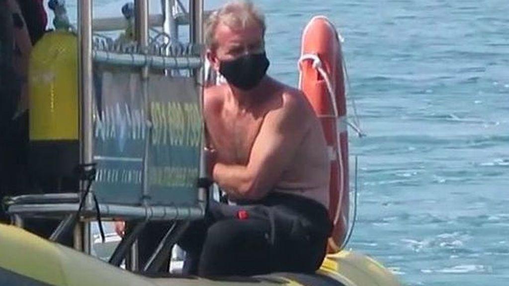 Fernando Simón, buceando en Mallorca
