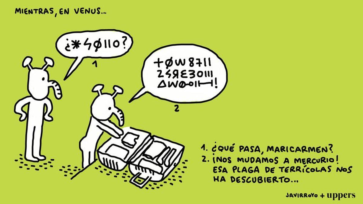 """Mientras, en Venus…"": la viñeta de Javirroyo"