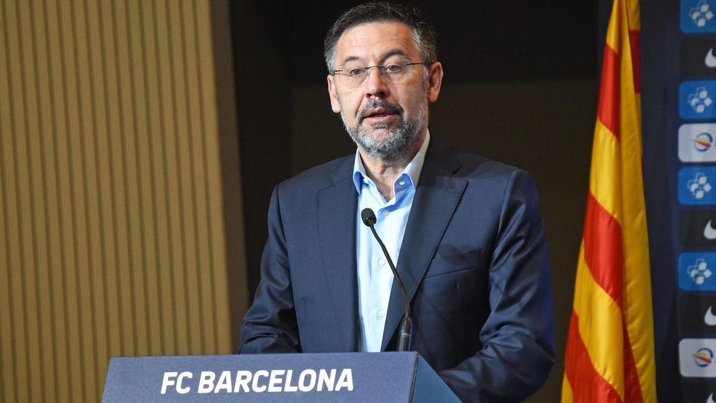 Josep María Bartomeu, en una rueda de prensa.