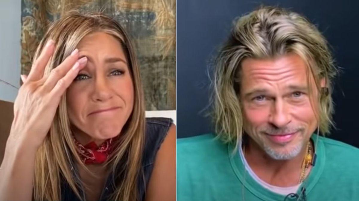 Videollamada con Jennifer Aniston y Brad Pitt