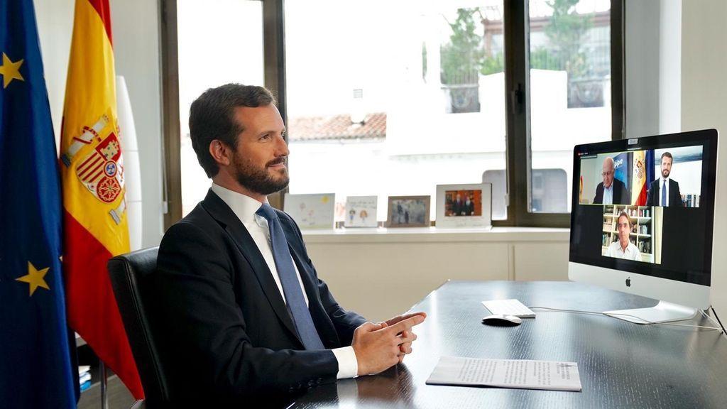 Casado acusa a Sánchez de poner el foco en Madrid