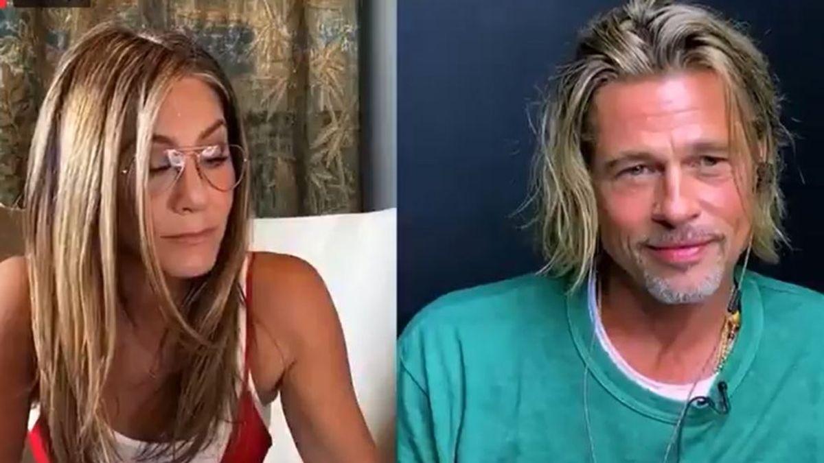"""El reencuentro de Brad Pitt y Jennifer Aniston supera todas las expectativas: """""""""""