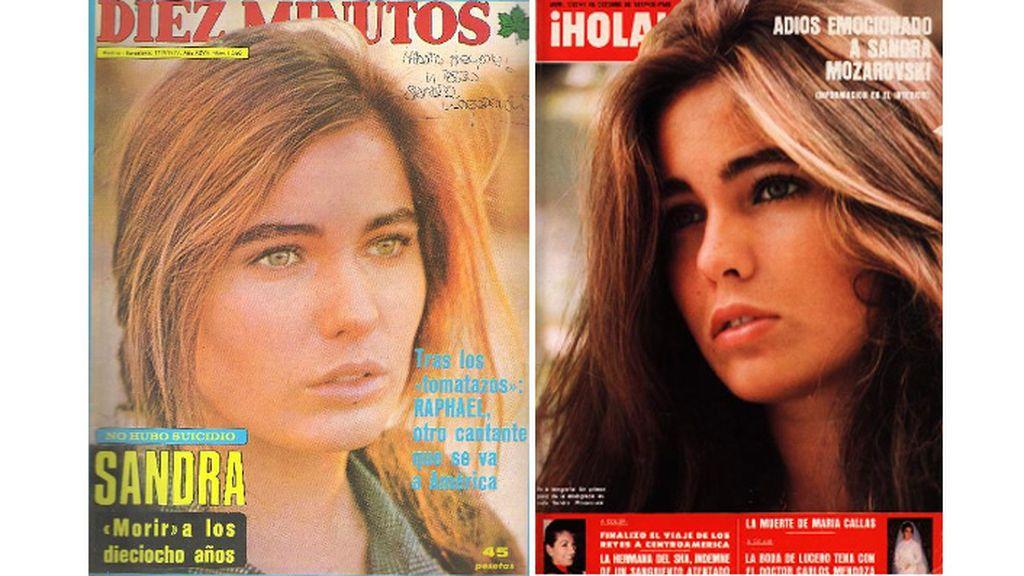 La muerte de Sandra Mozarowsky en las revistas