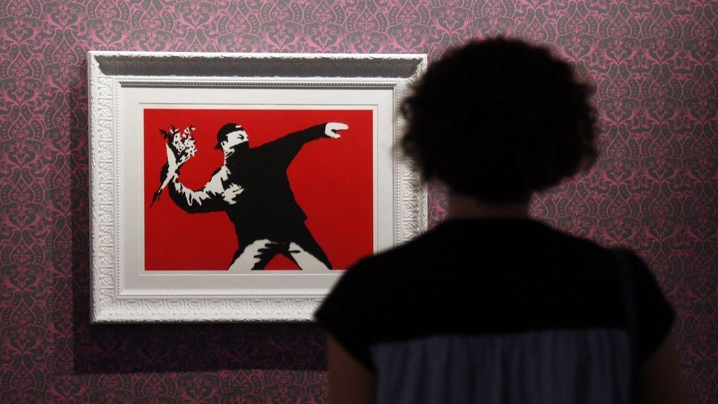 'Flower Thrower', de Banksy
