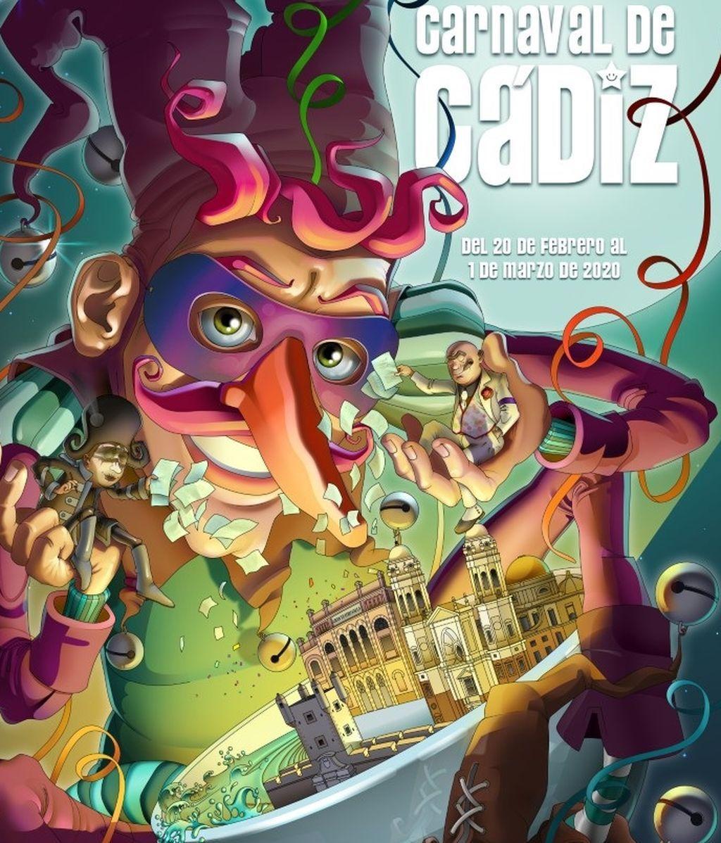 El cartel del carnaval de Cádiz de este año