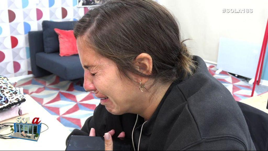 """Anabel Pantoja sorprende a su novio con una llamada y él le hace un reproche: """"No me gusta que estés llorando todo el día"""""""