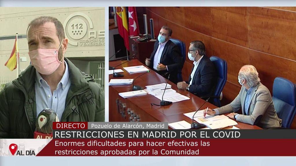 """Operativo para limitar la movilidad en la Comunidad de Madrid: controles """"informativos"""" en las primeras 48 horas"""