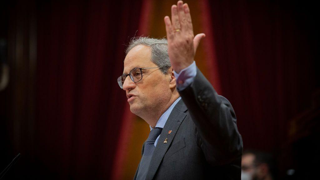 """Quim Torra llama a Pedro Sánchez """"tros de quòniam"""" por culparlo de la judicialización del conflicto catalán"""