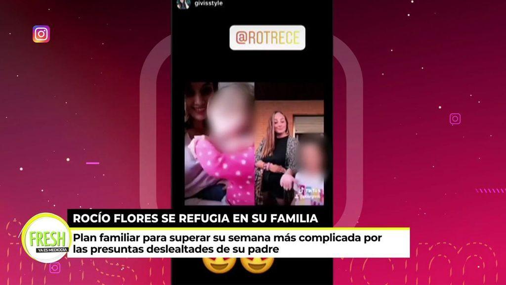 Rocío Flores se refugia de la crisis familiar entre tintes y recetas de cocina