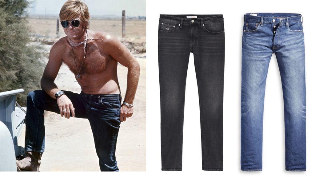 Robert Redford y pantalones masculinos Redplay (129 €) y los 501 de Levi´s (99 €)