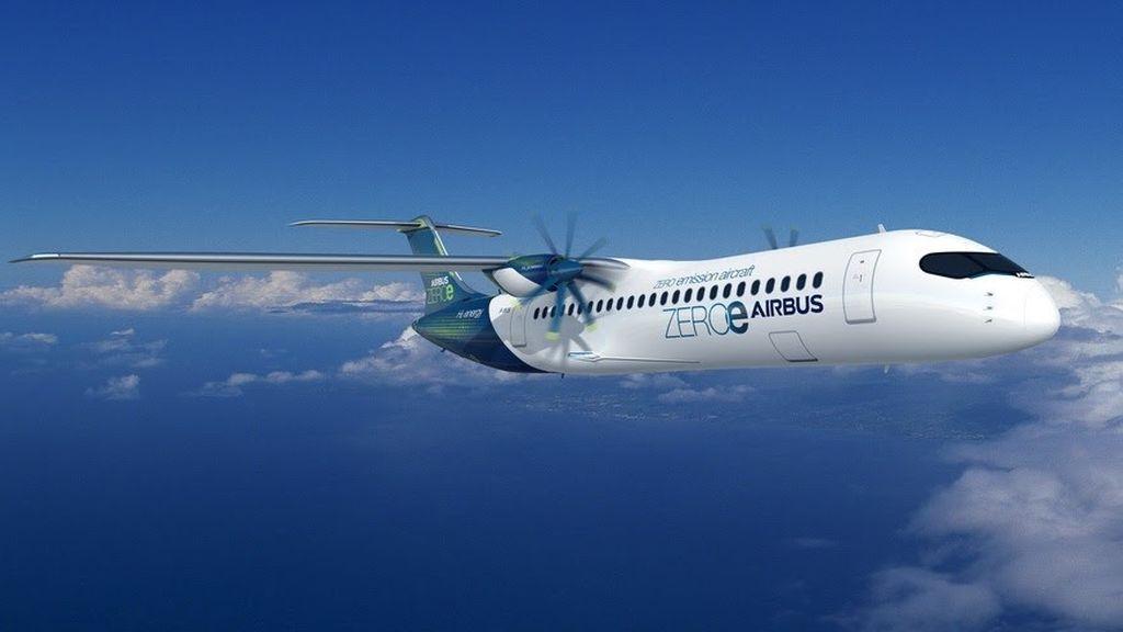 Airbus avión motor hidrógeno verde