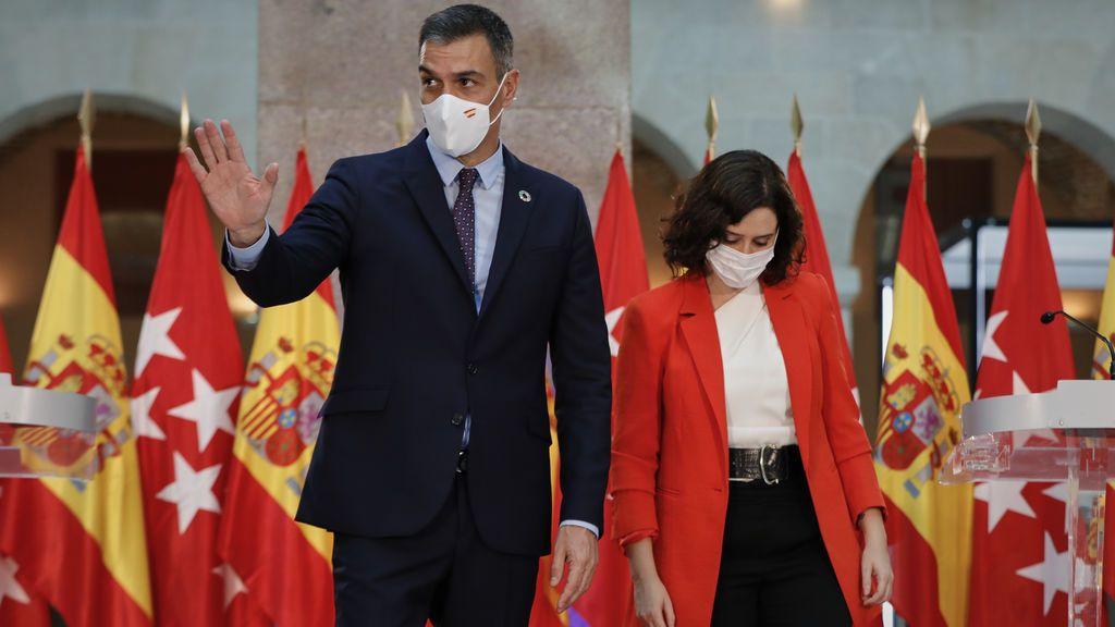 Pedro Sánchez e Isabel Díaz Ayuso, tras su reunión en Sol
