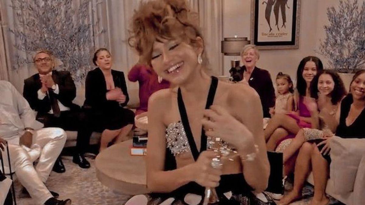 De la falda globo a los lunares: los sofisticados look de Zendaya en la gala virtual de los premios Emmy 2020