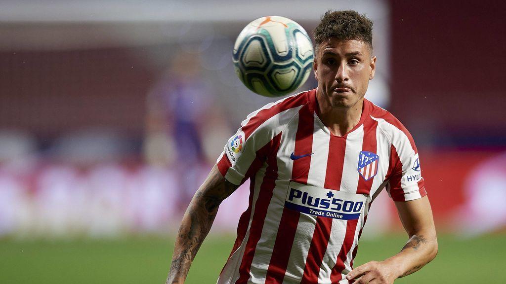 José María Giménez, en un partido con el Atlético.
