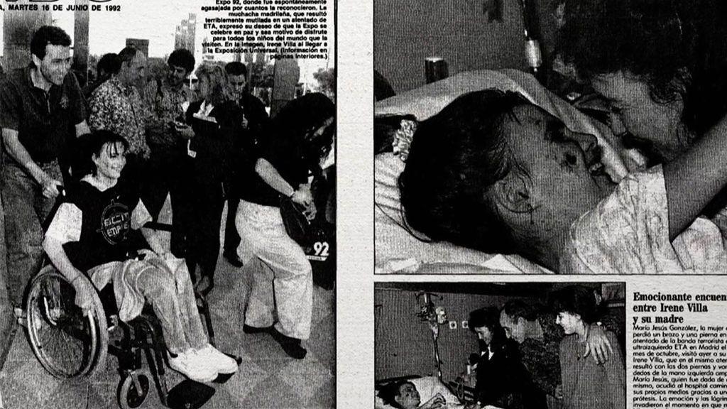 Irene Villa al ver junto a Samanta Villar las imágenes del atentado de ETA