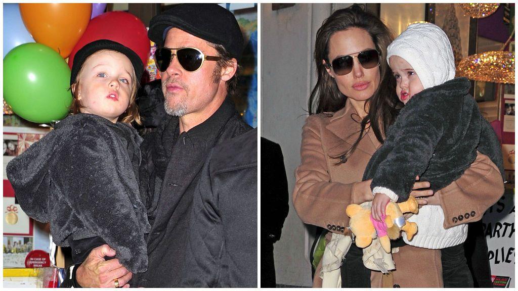 Físicamente, los mellizos se parecen mucho tanto a Brad como a Angelina.