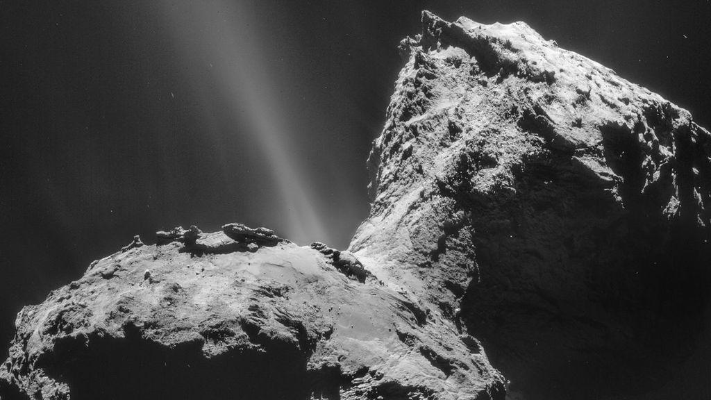 Detectan una inesperada aurora ultravioleta en el cometa que visitó la misión Rosetta