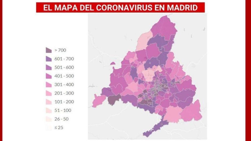 Se elevan hasta 47 las zonas de Madrid que superan el umbral para aplicar restricciones