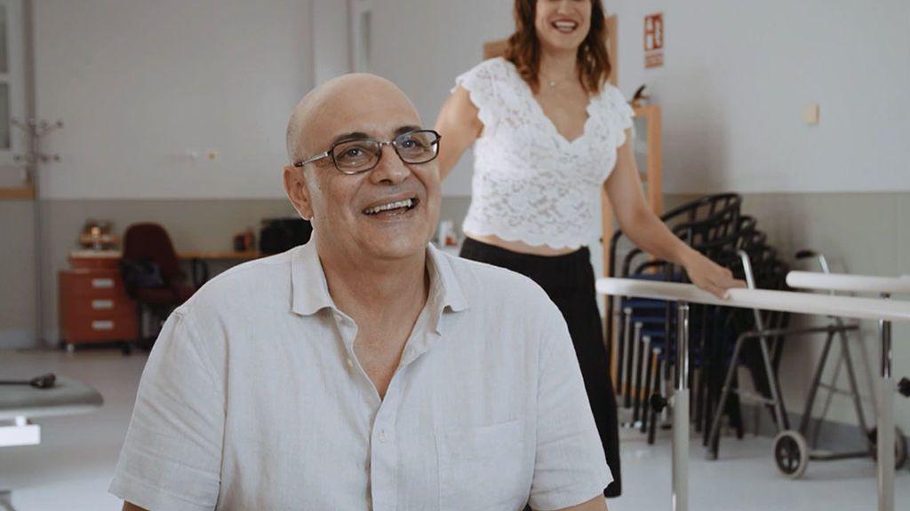 Irene Villa se reencuentra con su fisioterapeuta Juan Lechón