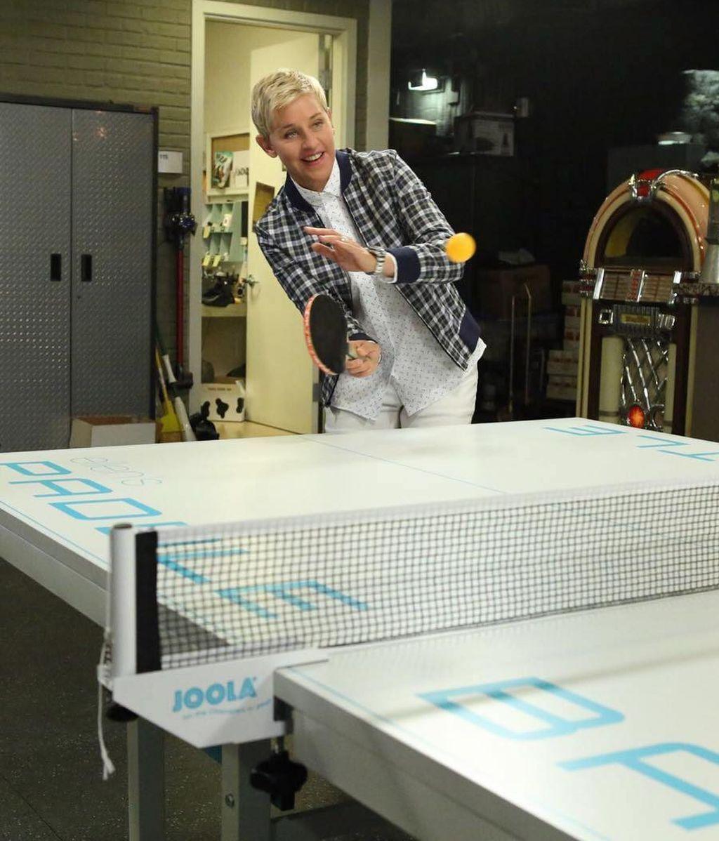 Ellen DeGeneres, en las bambalinas de su programa