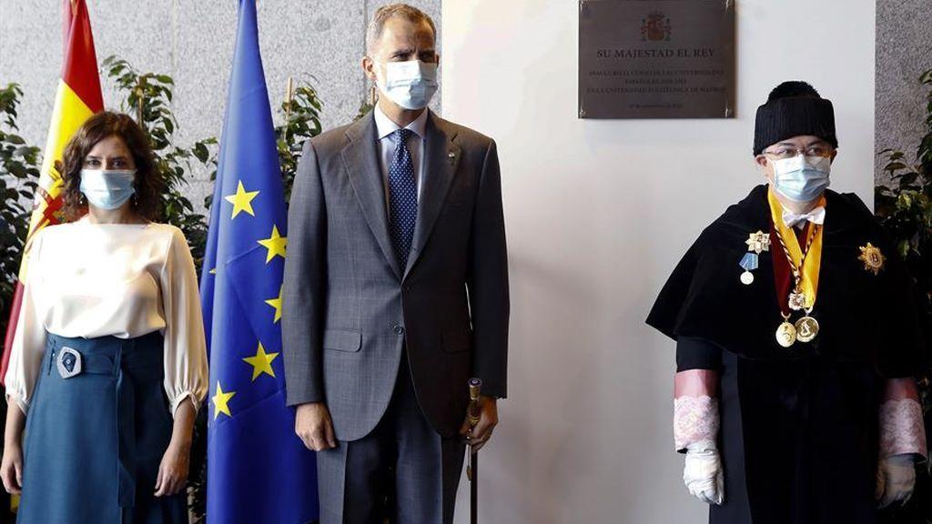 El rey inaugura el curso escolar en la Universidad Politécnica de Madrid