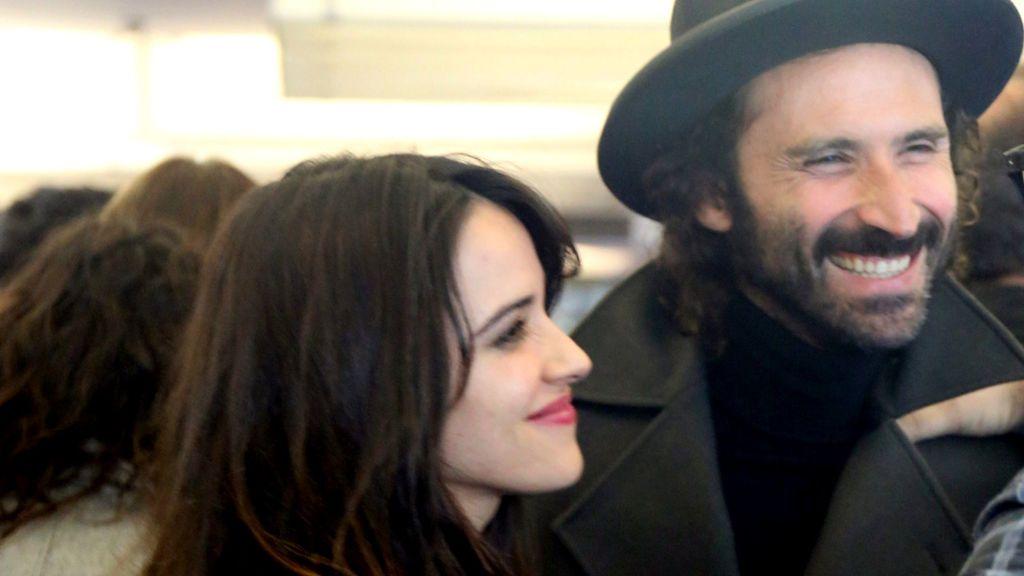 Macarena García con su ex, el cantante Leiva
