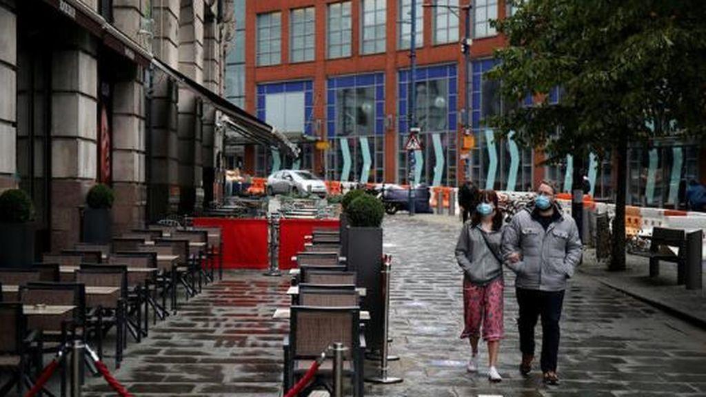 Una terraza vacía en Manchester,  Reino Unido