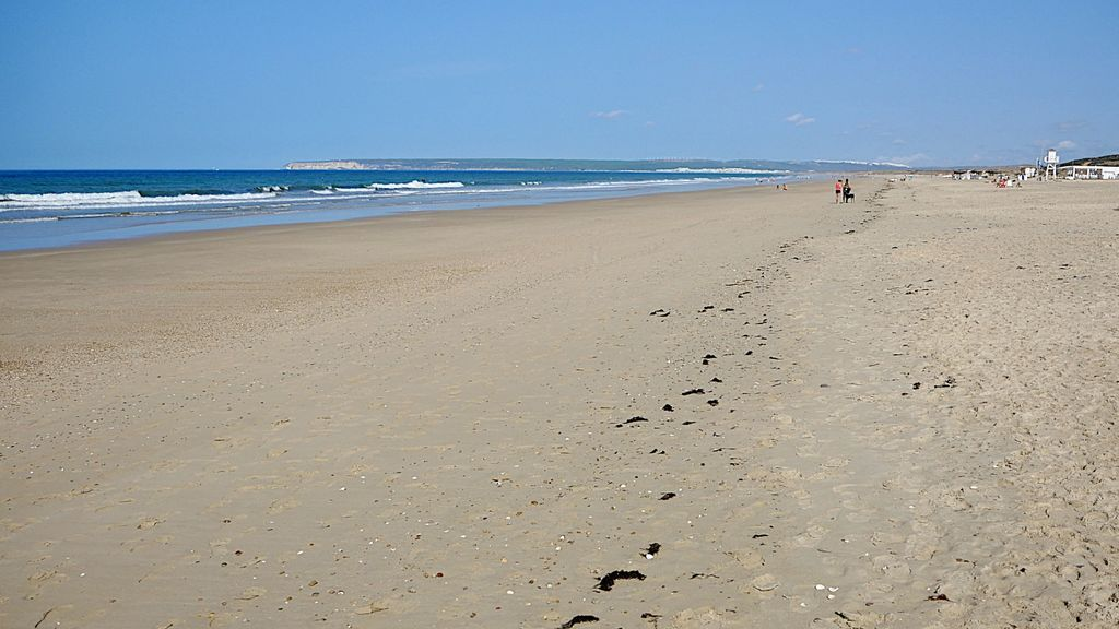 La playa de Zahara de los Atunes, este miércoles
