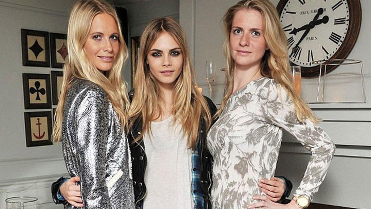 Poppy y Chloe: así son las dos hermanas de Cara Delevingne.