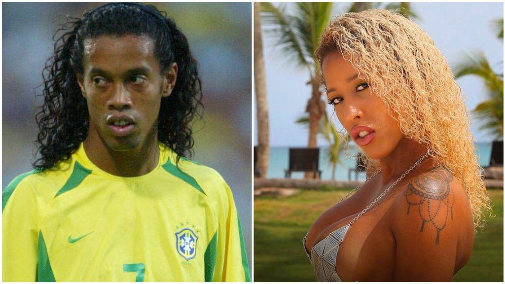 Ronaldinho, con Brasil, y Fátima, en 'La isla de las tentaciones'.