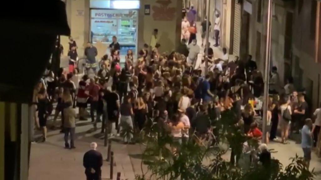 Botellones en Barcelona para celebrar las fiestas de La Mercè