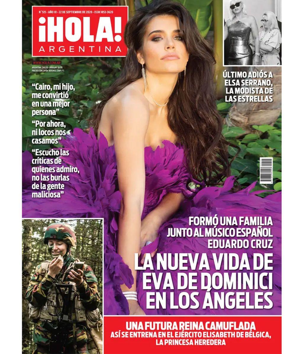 Eva de Dominici protagonizando la portada de la revista ¡Hola! Argentina