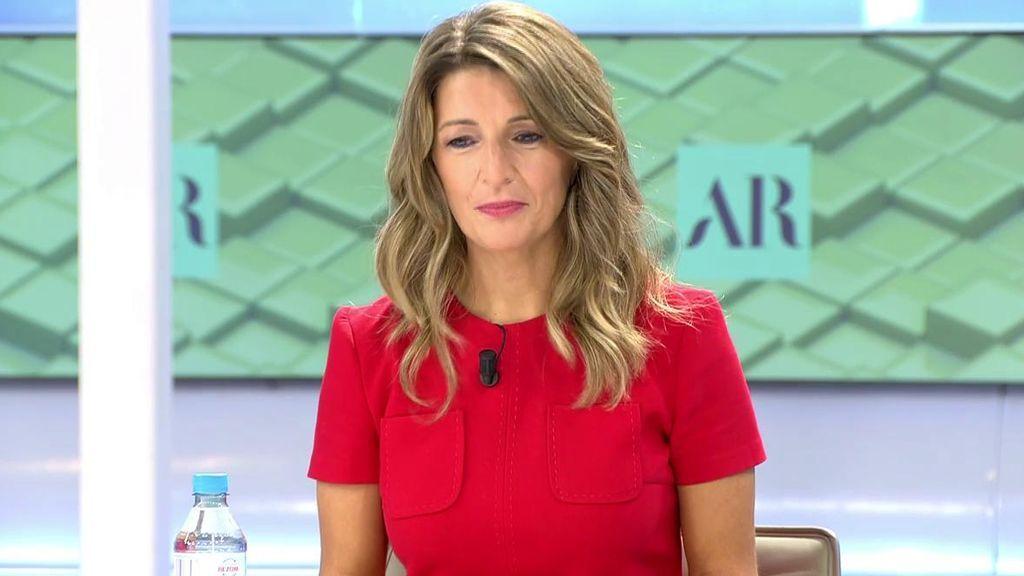 Yolanda Díaz, ministra de Trabajo habla sobre los ERTEs