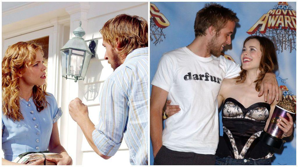 La historia de amor de Rachel McAdams y Ryan Gosling: de odiarse en 'El diario de Noah' a enamorarse dos años después.