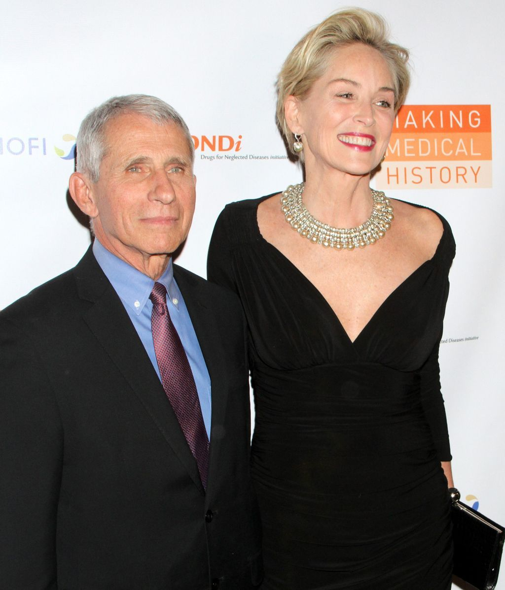 Fauci y Sharon Stone
