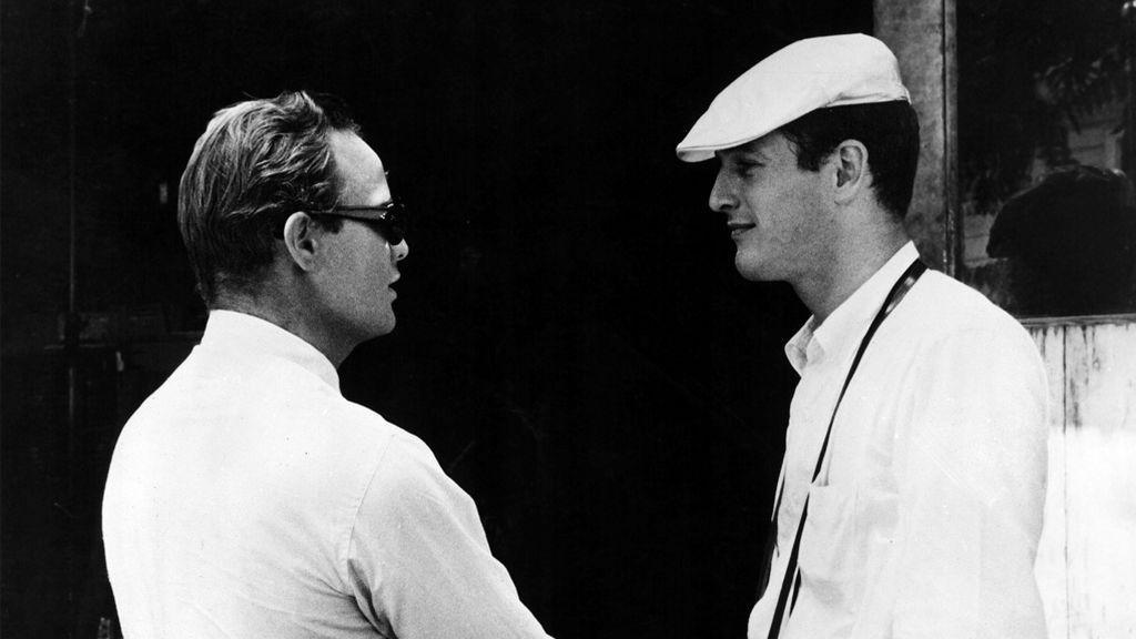 Marlon Brando y Paul Newman, en el set de 'Piel de serpiente' (1959)