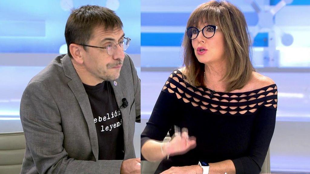 El enfado de Ana Rosa con Monedero tras decirle que no se ha leído La Constitución
