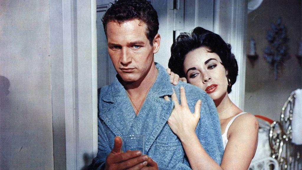 Paul Newman y Elizabeth Taylor en 'La gata sobre el tejado de zinc' (1958)